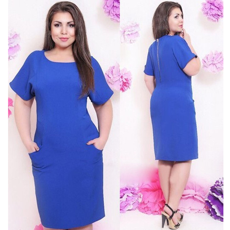 9bc47bb57fa XL-4XL-Plus-Size-Women-Dress-Casual-Summer-